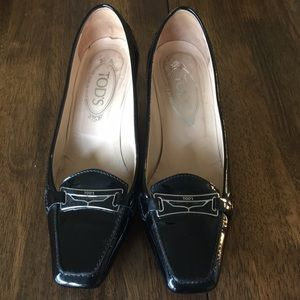Tod's Patent Leather Driving Shoes - Sz 8